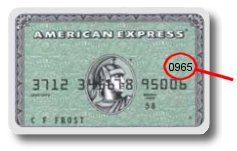 Image of the front of an American Express Card
